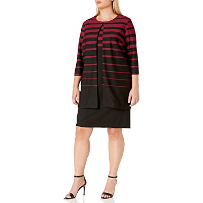 Danny and Nicole Women's Plus Size 2pc Jacket and 2fer Dress at Women's Clothing store
