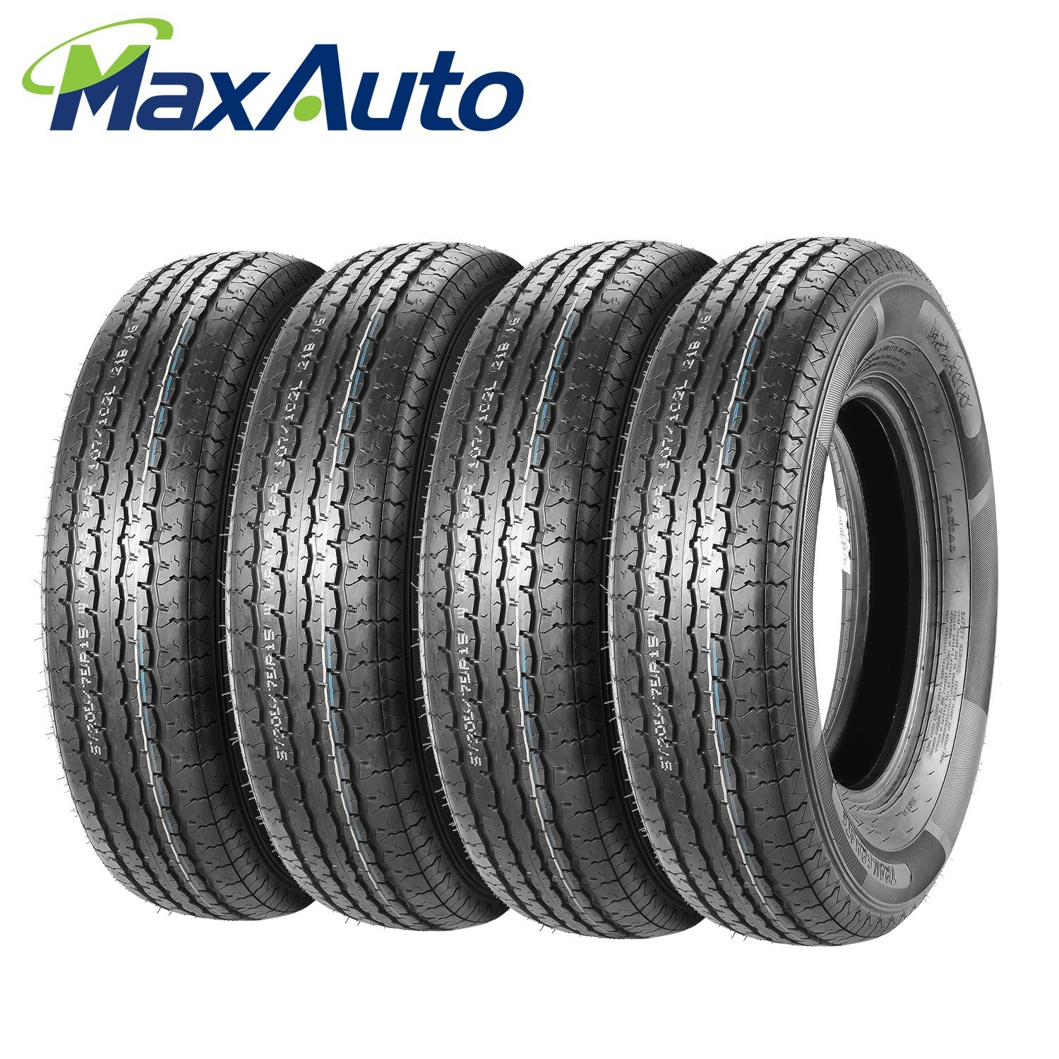 MaxAuto Radial Trailer Tires - ST205/75R15 ST205/75R-15 2057515 8Ply(Pack of 4)