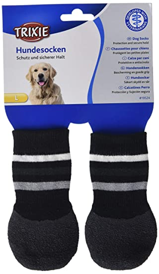 Trixie Calcetines Perro, Antideslizante, L-XL, 2 ud, Ng