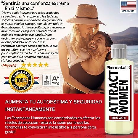 Amazon.com : PhermaLabs Feromonas Jabón Corporal - BODY WASH Para Hombres- 10 fl oz- Atraer Mujeres instantáneamente- Mayor Concentración De Feromonas ...