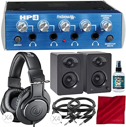 New PreSonus HP4 Discrete 4-Channel Studio Headphone Distribution Amplifier