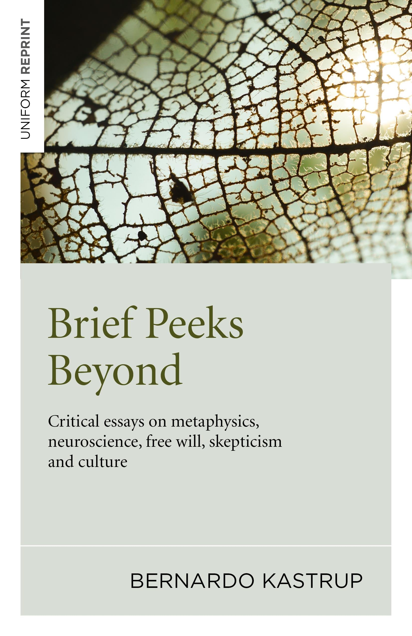 Brief Peeks Beyond  Critical Essays On Metaphysics Neuroscience Free Will Skepticism And Culture