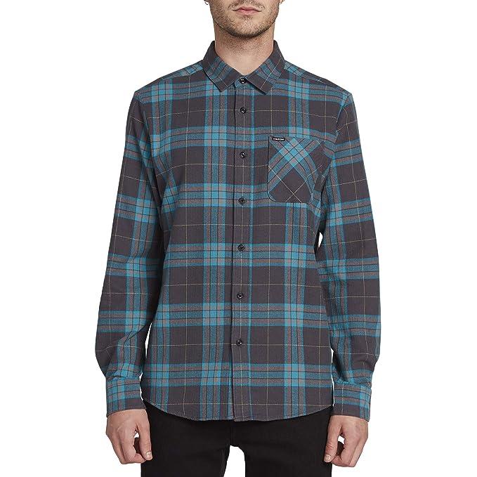 c3d5d7439 Volcom Men's Caden Classic Flannel Long Sleeve Shirt, Asphalt Black, Extra  Large: Amazon.co.uk: Clothing