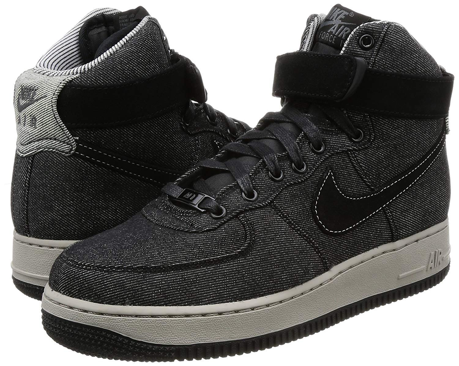 NIKE Women's Air Force 1 Hi SE Basketball Shoe B079HCDDYV 5.5 M US|Black/ Dark Grey-cobble Stone