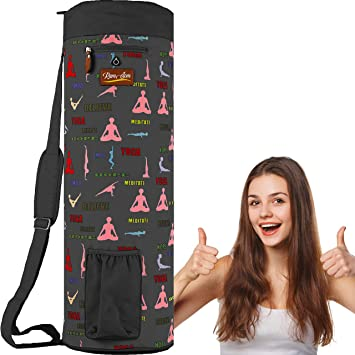 Yoga Mat Bag Fitness Carrier Strap Sling Gym Tote Carry Adjustable Exercise Pack