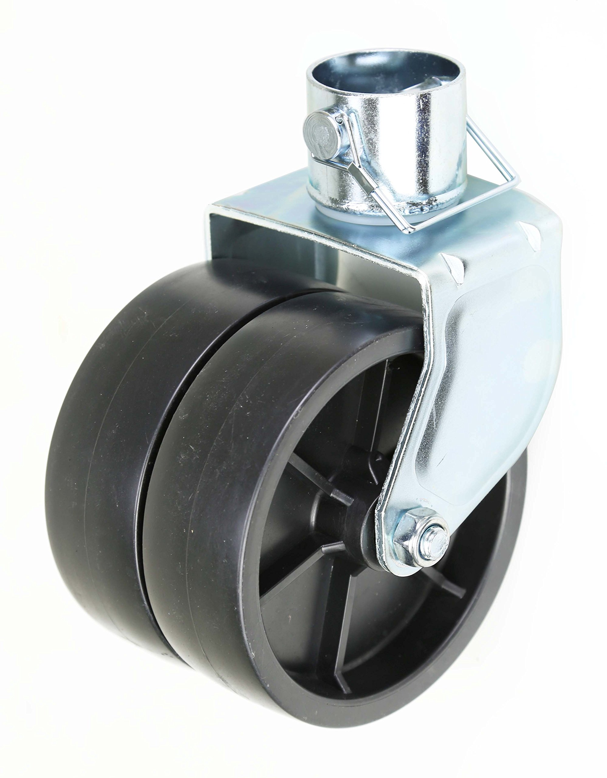New 6'' Dual Trailer Swirl Jack Caster Wheel With Pin - 26038