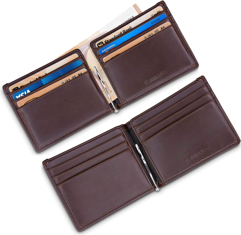 TRAVANDO ® cartera con pinza para billetes