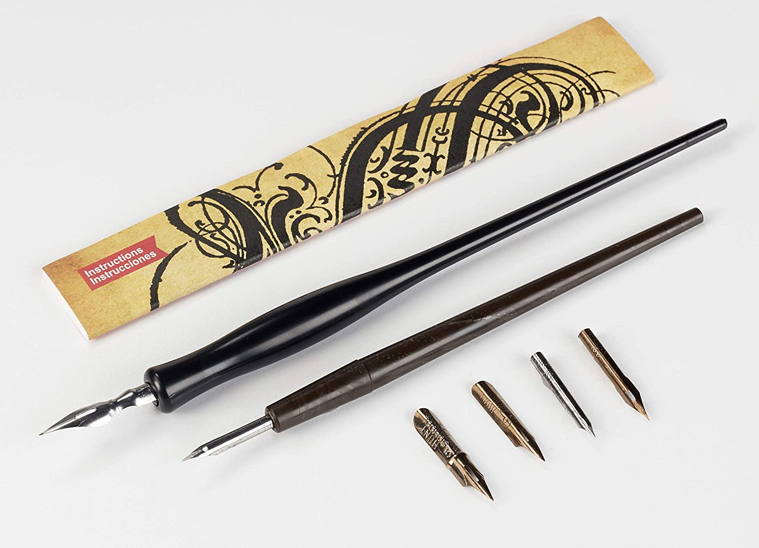 Two Speedball Pen and Ink Crow Quill Sets for Drawing Sketching and Calligraphy Cross Hatching Stippling Cartooning