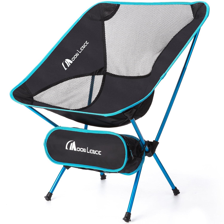 Moon Lence アウトドアチェア 折りたたみ コンパクト 超軽量 キャンプ椅子