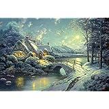 Schmidt - 58453 - Puzzle Classique - Clair de Lune sur La Neige