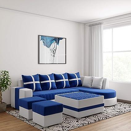 Wsretail Damass Prime Corner 8 Seater Sofa Set With Center