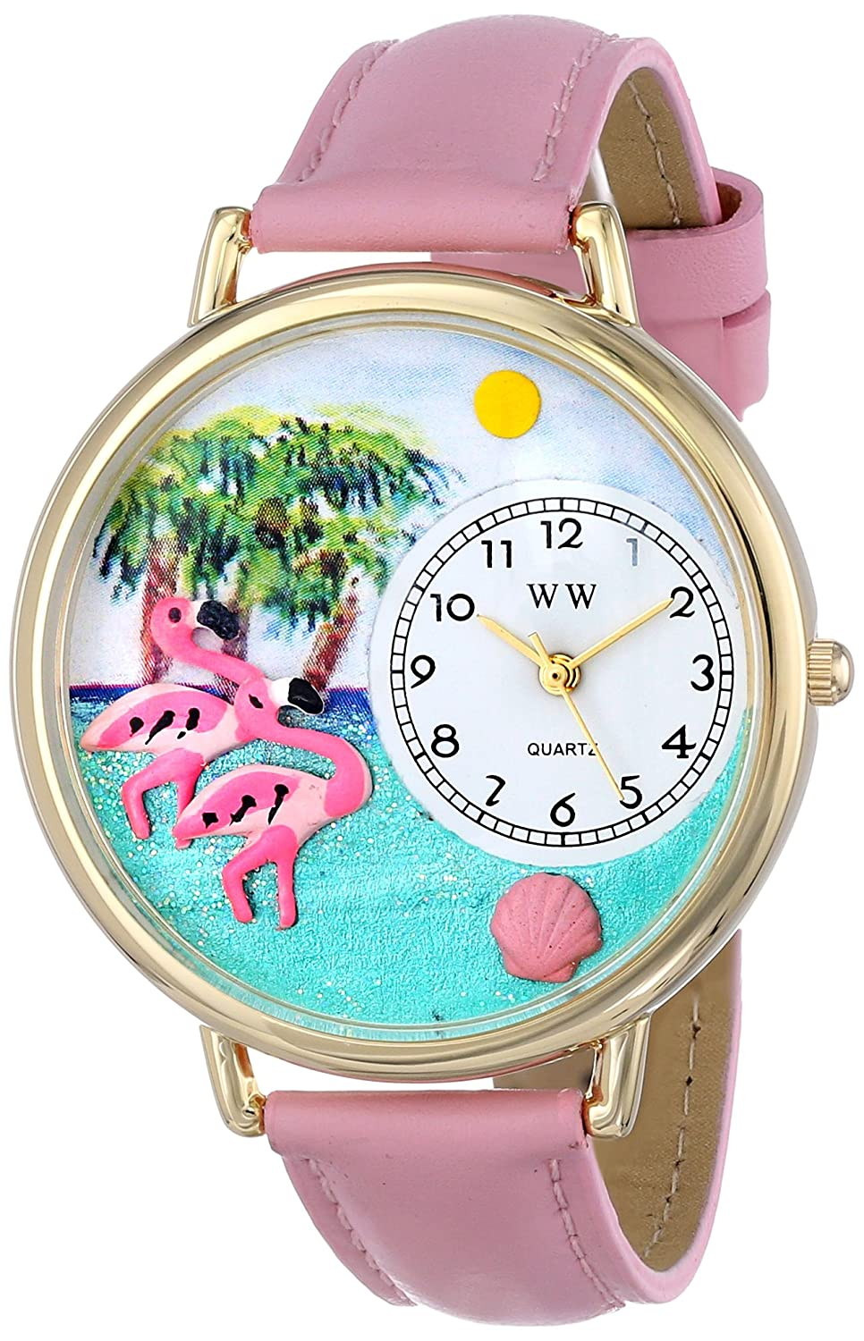 Whimsical Watches Women s G0150001 Flamingo Pink Leather Watch