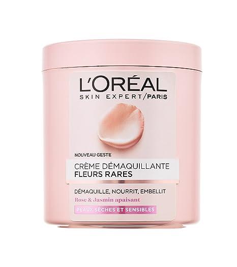 L Oréal Paris, Crema Démaquillante para pieles secas y sensibles, ...