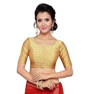 998816c09d1ea8 Studio Shringaar Women's Polyester Stitched Saree Blouse: Amazon.in ...
