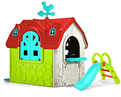 Casita Con Refresh Feber Playhouse Juegos Tobogán De Lc3AjSq54R