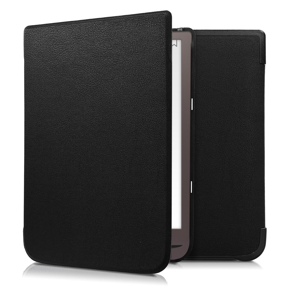 kwmobile Flip cover case for Pocketbook InkPad 3 - imitation leather foldable case in black