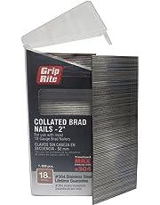 Grip Rite MAXB64878 18-Gauge 304-Stainless Steel Brad Nails in Belt-Clip Box (Pack of 1000), 2-Inch