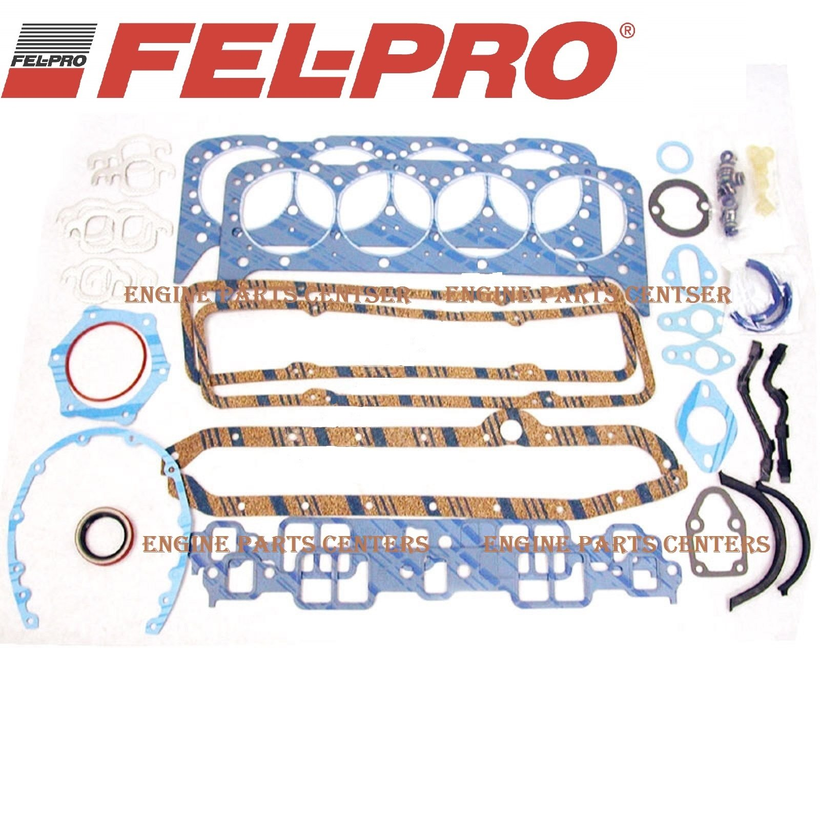 Fel Pro Gasket Set Chevy 350 1980-85 sb sbc Full Overhaul Complete 260-1045 (Full Set) by Falcon Performance