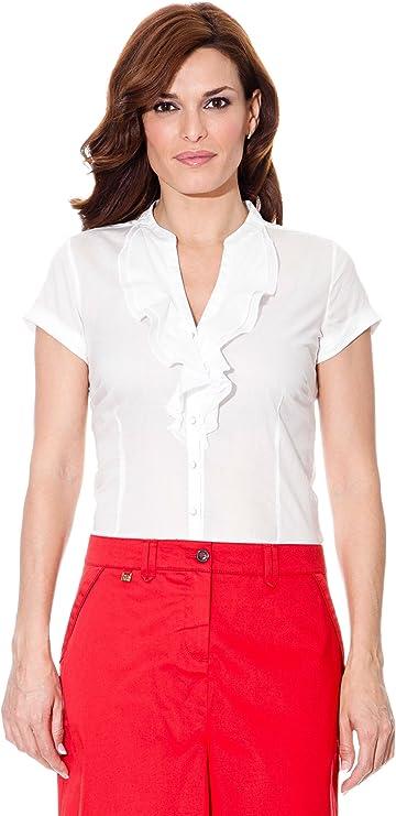 Cortefiel Camisa Chorreras Blanco 38: Amazon.es: Ropa y accesorios