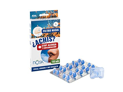 Filtro Nasal Nosk 10 Unidades - Bloquea al instante los síntomas de la alergia respiratoria y la contaminación