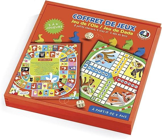 Janod - Cofre de Juegos de Mesa (Juego de la oca y parchís) (J02011): Amazon.es: Juguetes y juegos