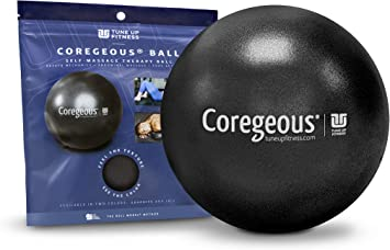 Tune Up Fitness Coregeous Ball Newly Updated Packaging Jill Miller Use Ball to Massage and Activate Your core and Stretch Your Psoas