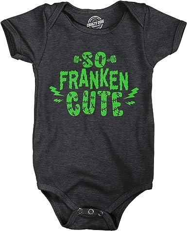 Bodysuit So Franken Cute Funny Baby Outfit Humor Frankenstein Onesie Halloween Onesie Infant Romper Gift For Baby Baby Halloween