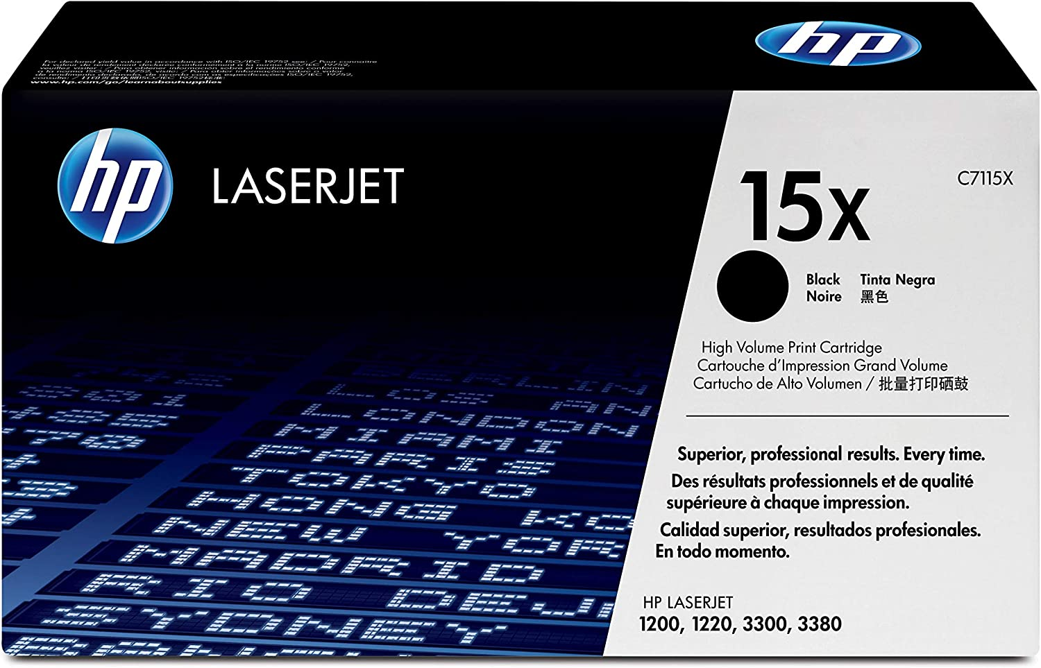 HP 15X | C7115X | Toner Cartridge | Black | High Yield