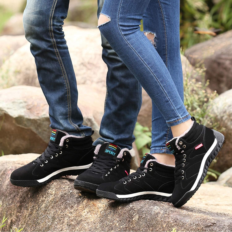 AONEGOLD Bottes de Neige Homme Femme Chaussures dhiver Chaude Doublure Chaussures Montantes de Randonn/ée Imperm/éable