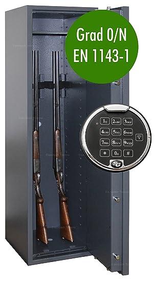 Waffenschrank Grad 0 EN 1143-1 mit Zahlenschloss Gun-Safe 0-5 ...