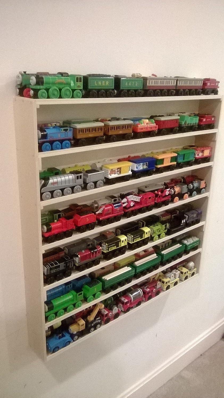 display easy storage train toy diy shelf
