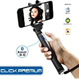 Xtra Extendable Selfie Stick Bluetooth Monopod with Built-In Shutter Button|Wireless Telescoping Stick with 270° Adjustable Holder for iPhone & Android Devices|Handheld & Portable for Perfect Shots