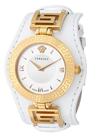 c6d8ba7571c57 Versace Women s VLA010014 V-SIGNATURE Analog Display Swiss Quartz White  Watch