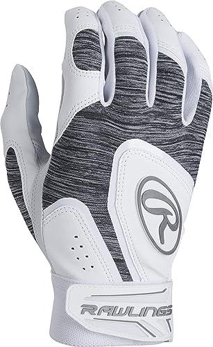 Rawlings 5150WBG-W-91 Rawlngs 5150 Batting Gloves, Medium, White White