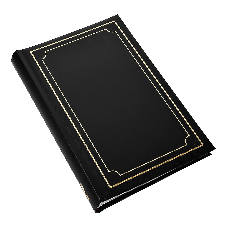 Arpan 6x4 Deluxe Padded Cover Bookbound Slip In Memo Photo Album for 300 Photos Black