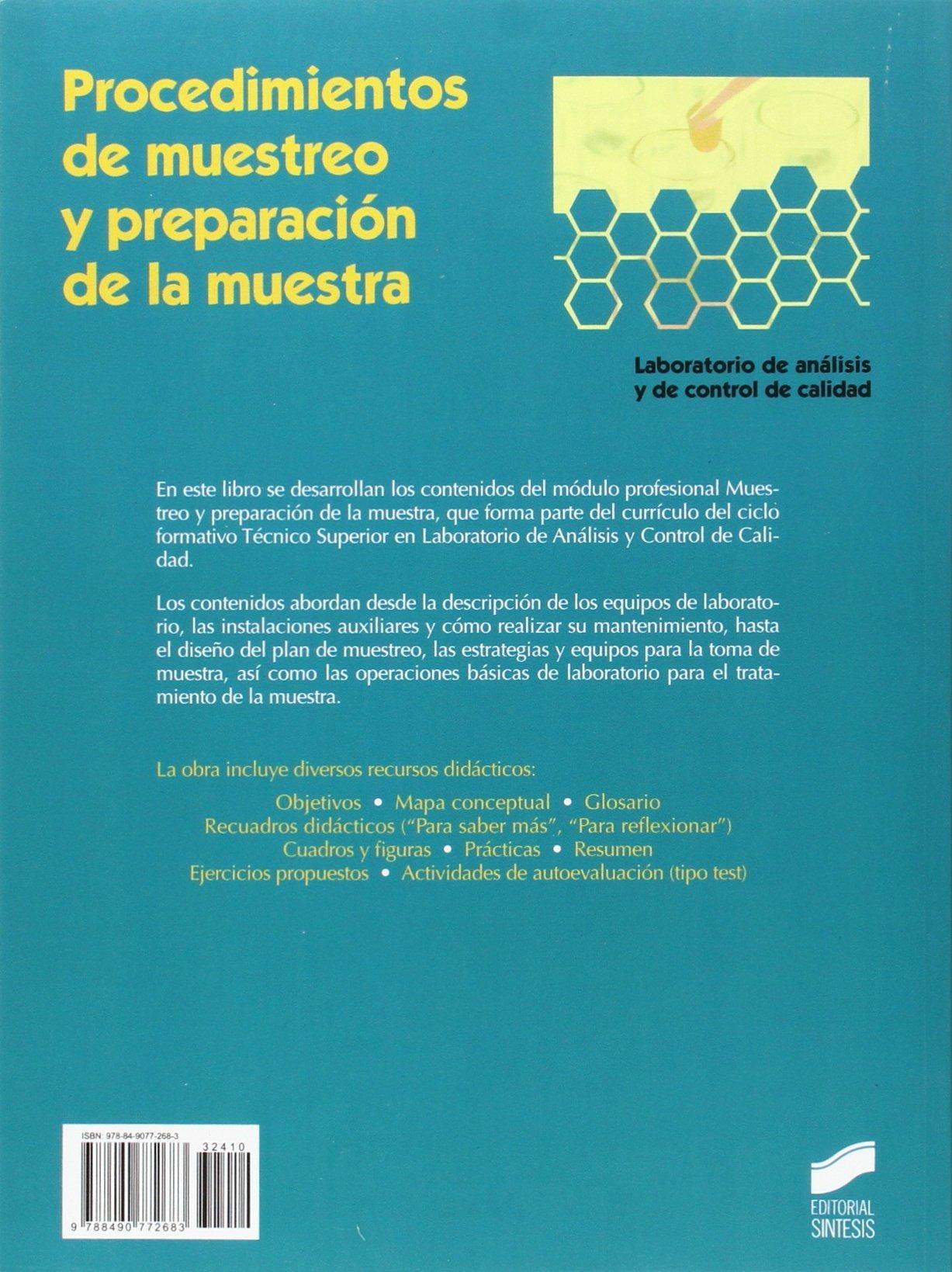 Procedimientos de muestreo y preparación de la muestra Química ...