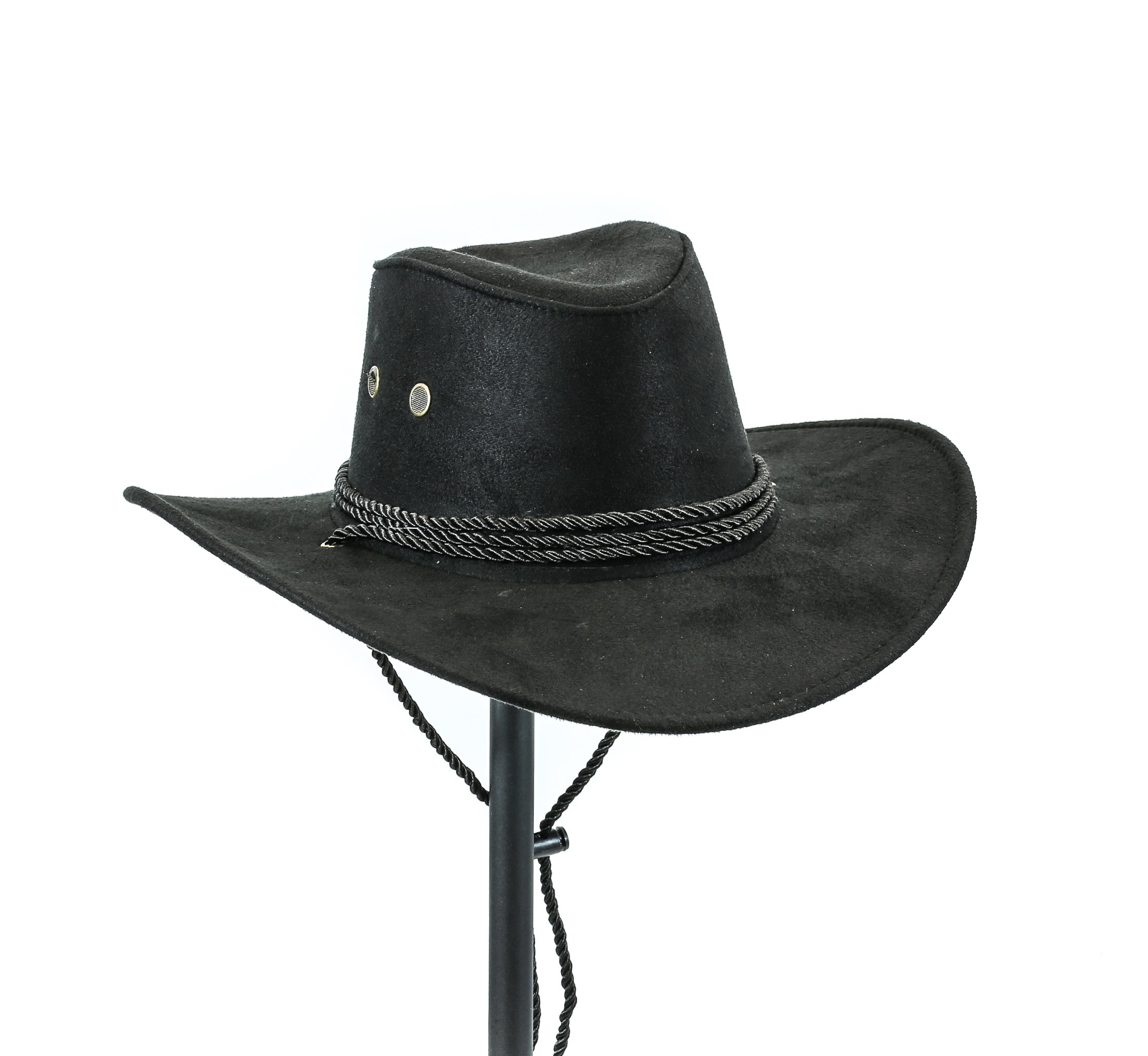 Western Cowboy Hat Conch Rope Band Wide Brim Cowgirl Jazz Cap Wool Blend (Rope Only)