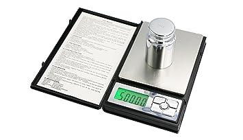 PONECA - Báscula digital de bolsillo para ordenador portátil, 500 g, 0,01