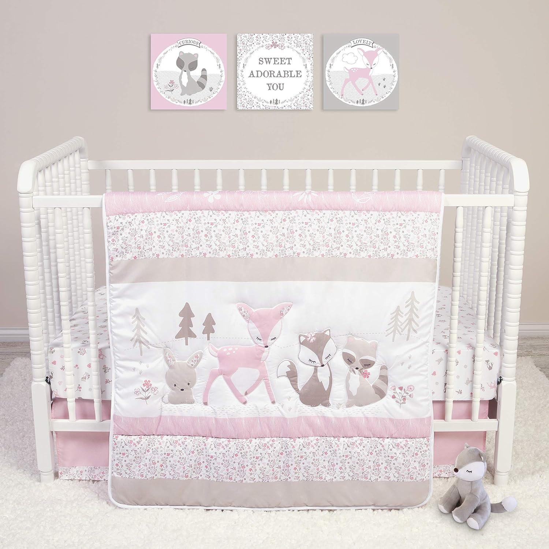 Sammy /& Lou Sammy /& Lou Sweet Forest Friends 4Piece Crib Bedding Set
