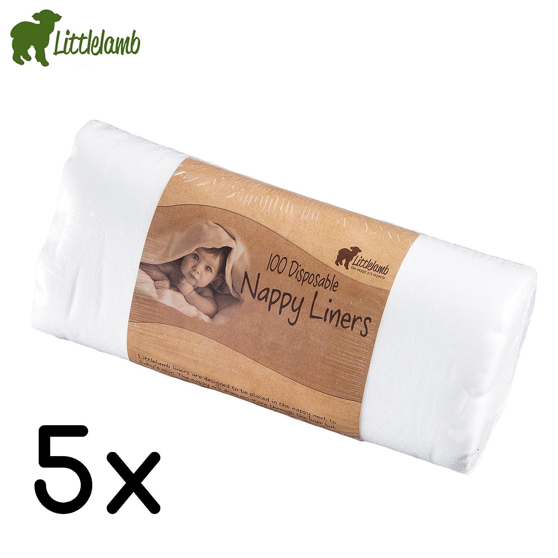 'Little Lamb Stay de Dry Papel de vellón–5Unidades (5rollos x 100unidades) para pañales, Vellón, EINLAGEN
