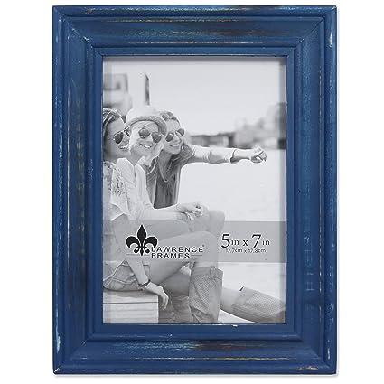 Amazon.com - Lawrence Frames Weathered Woods 5x7 Durham Navy Blue ...