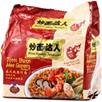 Nissin Tom Yam Mee Goreng Flavour Instant Noodle 5 Packets, 425 g, Tom Yam Mee Goreng