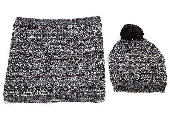 1ccea111bad Emporio Armani EA7 men s wool beanie hat with neck warmer grey ...
