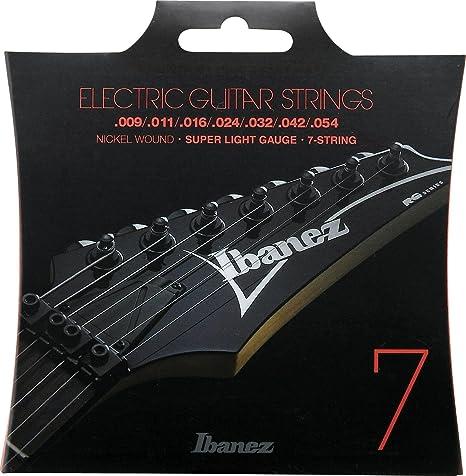 Ibanez IEGS7 - Juego cuerdas para guitarra eléctrica