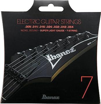 Ibanez IEGS7 - Juego cuerdas para guitarra eléctrica: Amazon.es: Instrumentos musicales