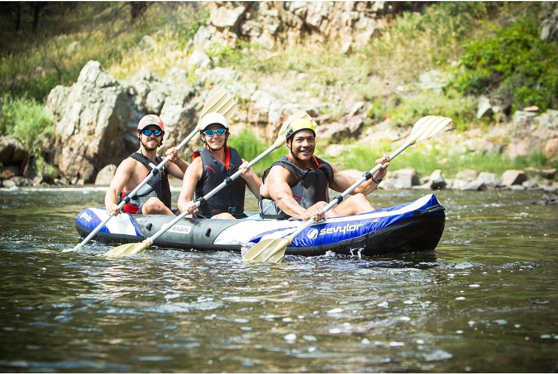 sevylor big basin three person inflatable kayak