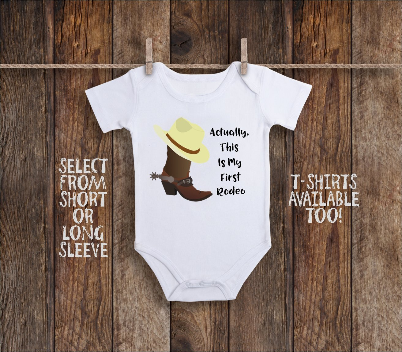 My First Rodeo Cowgirl or Cowboy Toddler Kids Tee Shirt or Baby Bodysuit