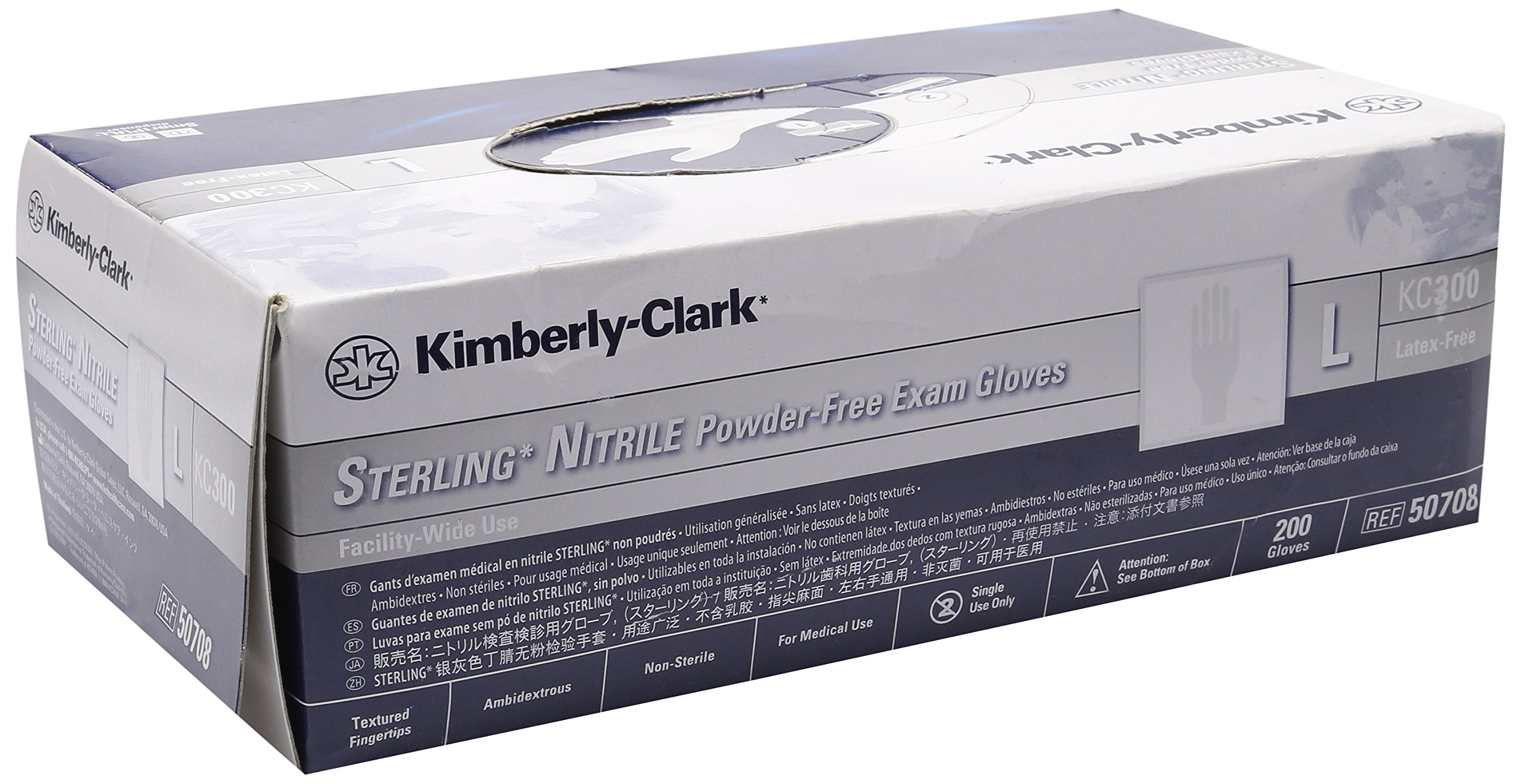 Kimberly Clark Safety 50708 Sterling Nitrile Exam Gloves, Large (Pack of 200)