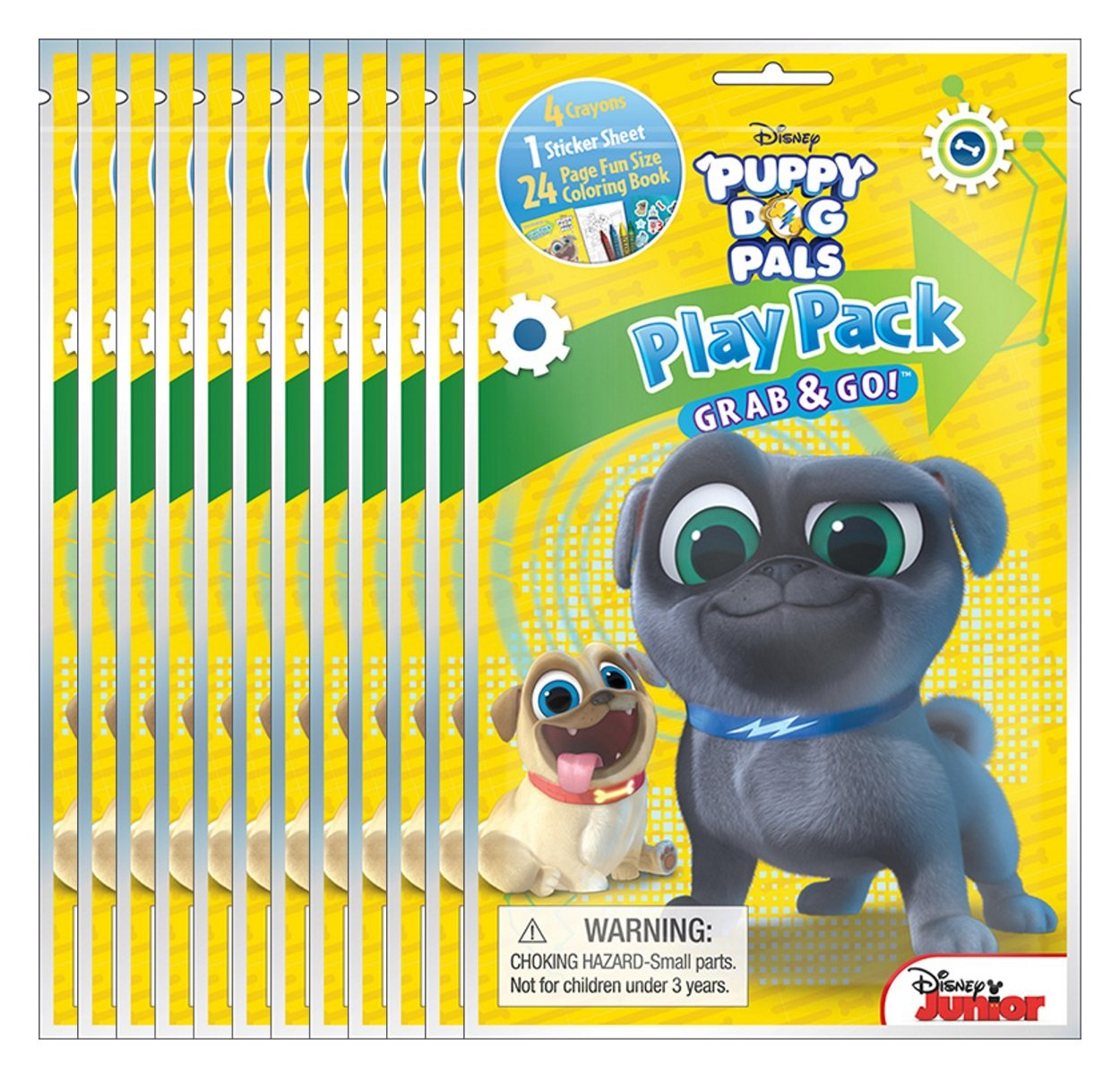 Bendon Disney Puppy Dog Pals Grab /& Go Play Packs Pack of 12