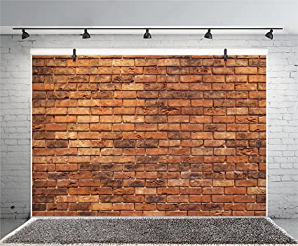 Leyiyi Vintage Red Brick Wall 8x6ft Photography Background Grunge Rustic Wall Graffiti Birthday Party Old Dirty Street Baby Shower Countryside Style